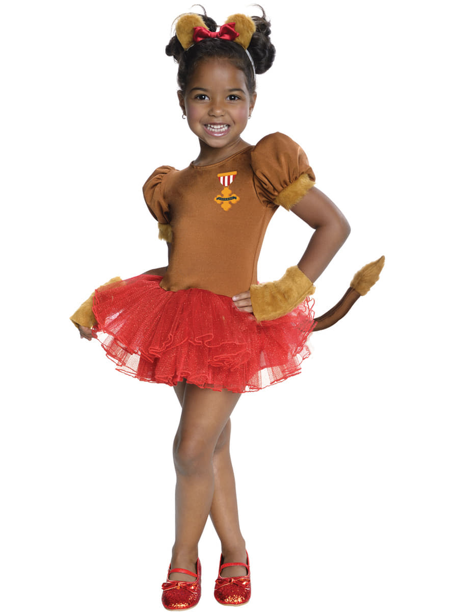 Girls Adorable Lion The Wizard Of Oz Costume The Coolest Funidelia