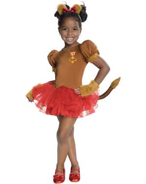 Troldmanden fra Oz Den Bange Løve kostume til piger