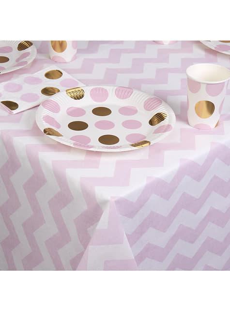 Mantel rosa y blanco de papel - Pattern Works