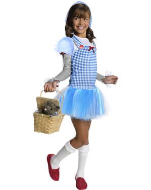 Costum Dorothy Vrăjitorul din Oz cu glugă pentru fată
