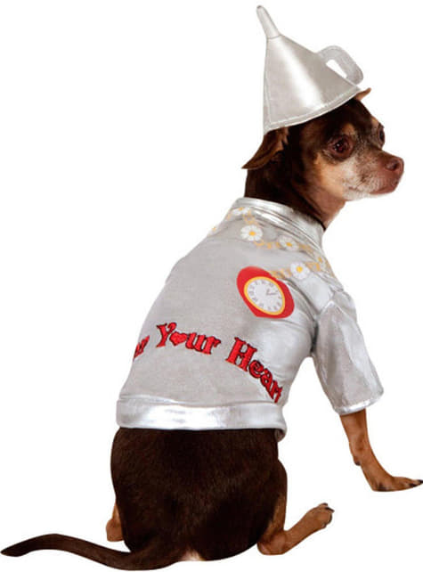 Disfraz del Hombre de hojalata El Mago de Oz para perro