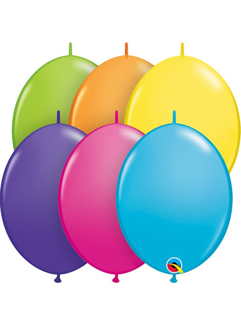50 balónků tropický mix Link-O-Loon (30,4 cm) - Quick Link Solid Colour