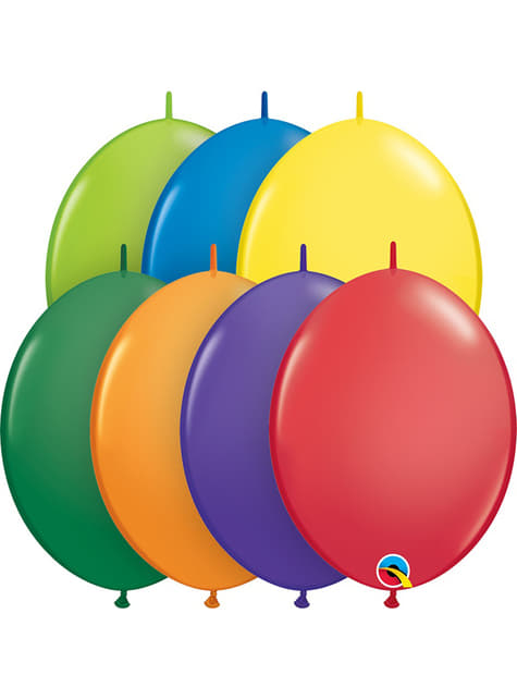 50 globos link o loon mix carnival (30,4cm) - Quick Link Solid Colour