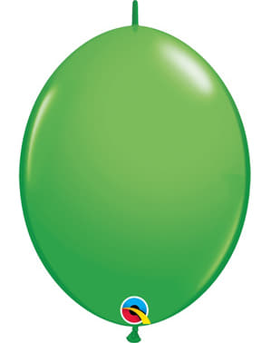 50 Link-O-Loon Balloons in Green (15.2 cm) - Quick Link Solid Colour