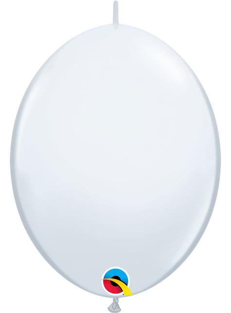 50 bílých balónků Link-O-Loon (30,4 cm) - Quick Link Solid Colour