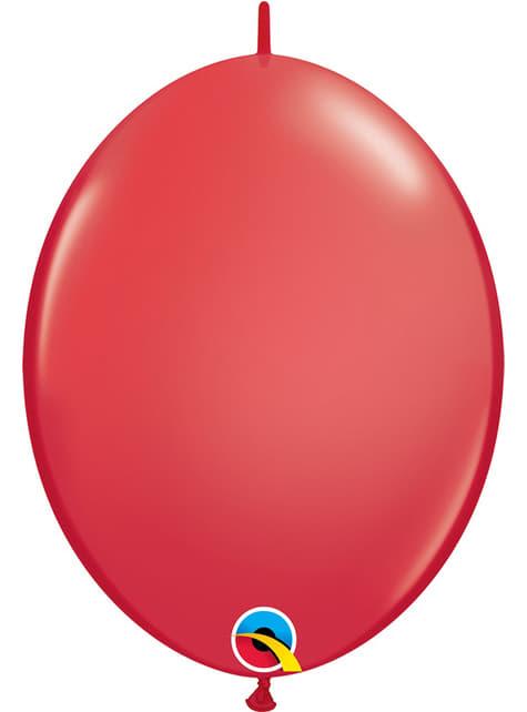 50 červených balónků Link-O-Loon (30,4 cm) - Quick Link Solid Colour