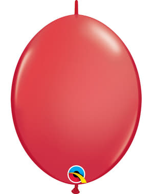 50 Link-O-Loon Balloons in Red (30.4 cm) - Quick Link Solid Colour
