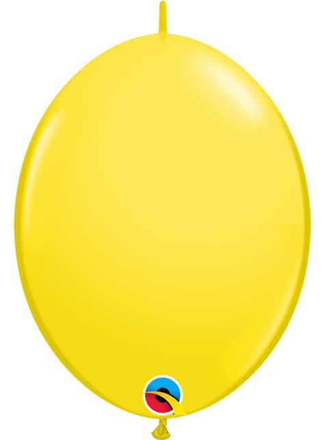 50 balões link o loon amarelos (30,4cm) - Quick Link Solid Colour