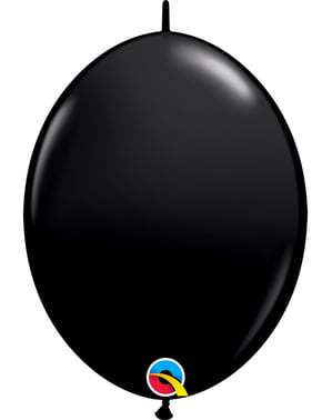 50 Link-O-Loon Balloons in Black (30.4 cm) - Quick Link Solid Colour
