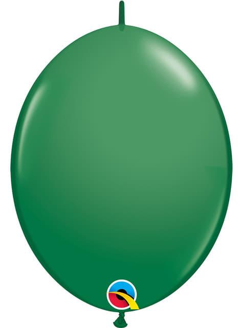 50 zelených balónků Link-O-Loon (30,4 cm) - Quick Link Solid Colour