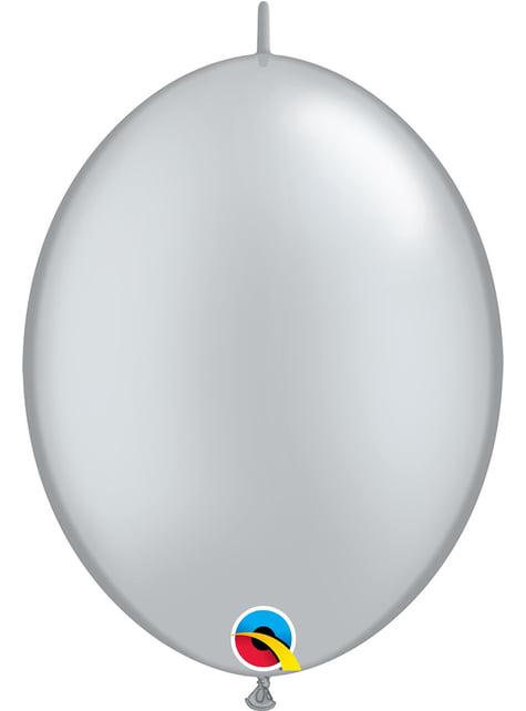 50 globos link o loon plateados (30,4cm) - Quick Link Solid Colour
