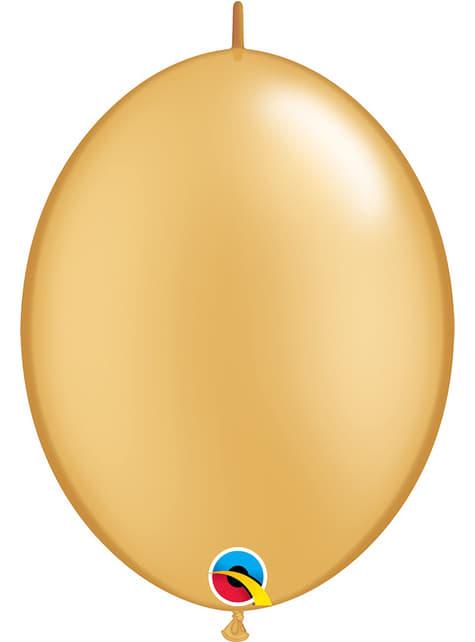 50 balões link o loon dourados (30,4cm) - Quick Link Solid Colour
