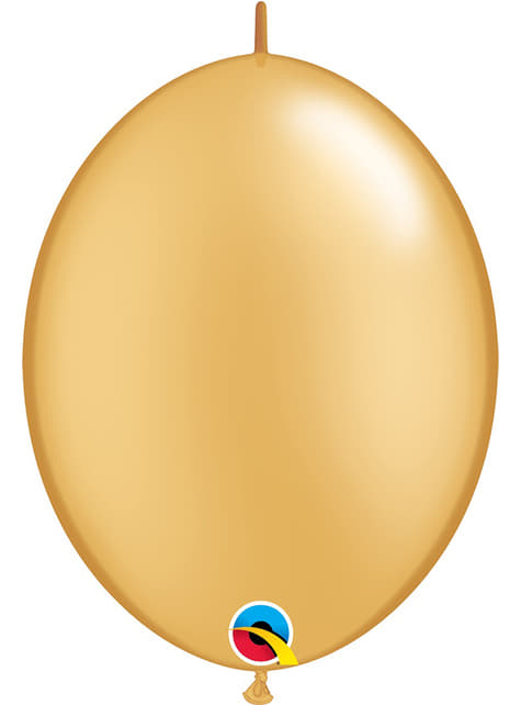 50 zlatých balónků Link-O-Loon (30,4 cm) - Quick Link Solid Colour