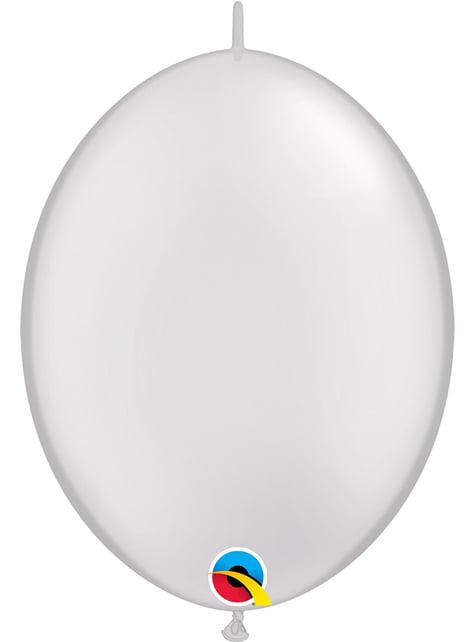 50 balões link o loon branco pérola (30,4cm) - Quick Link Solid Colour