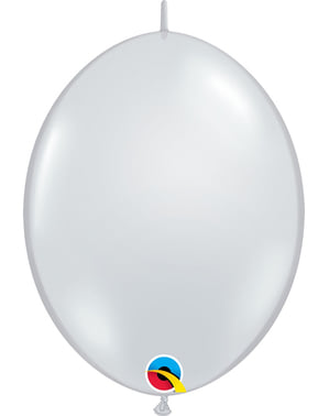 50 Link-O-Loon Clear Balloons (30.4 cm) - Quick Link Solid Colour