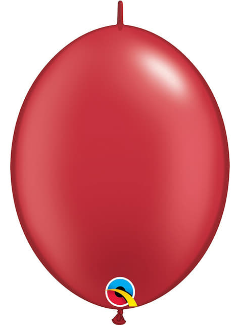 50 ballons link o loon rouge perlé (30,4cm) - Quick Link Solid Colour
