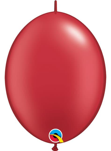 50 perleťové červených balónků Link-O-Loon (30,4 cm) - Quick Link Solid Colour