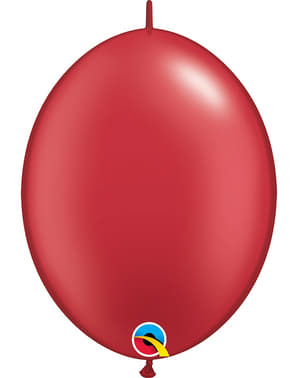 50 Link-O-Loon Balloons in Pearl Red (30.4 cm) - Quick Link Solid Colour