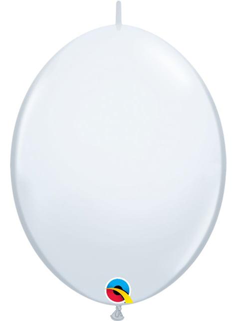 50 bílých balónků Link-O-Loon (15,2 cm) - Quick Link Solid Colour