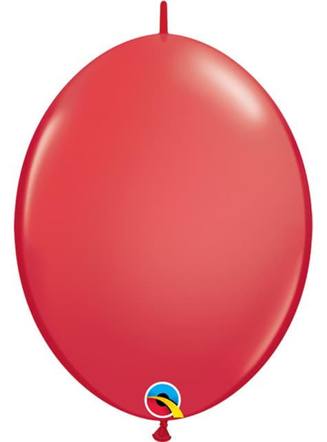 50 balões link o loon vermelhos (15,2cm) - Quick Link Solid Colour