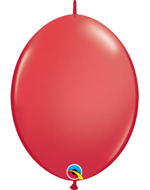 50 Link-O-Loon Balloons in Red (15.2 cm) - Quick Link Solid Colour