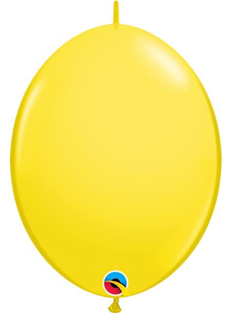 50 balões link o loon amarelos (15,2cm) - Quick Link Solid Colour