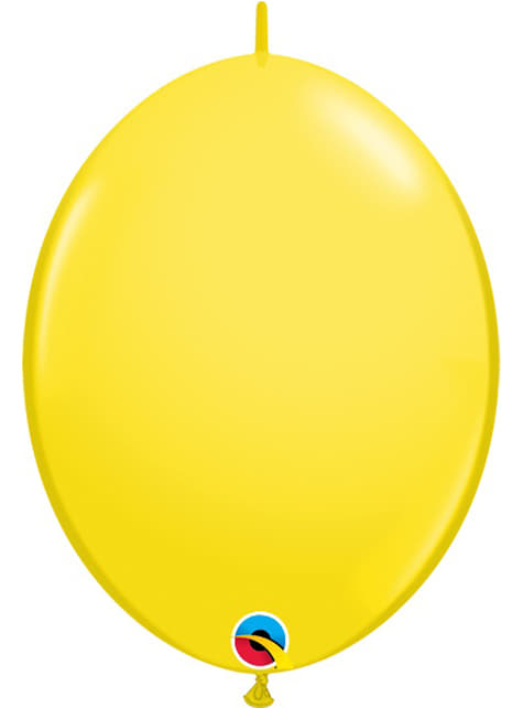 50 žlutých balónků Link-O-Loon (15,2 cm) - Quick Link Solid Colour