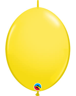50 Link-O-Loon Balloons in Yellow (15.2 cm) - Quick Link Solid Colour