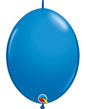50 Link-O-Loon Balloons in Dark Blue (15.2 cm) - Quick Link Solid Colour