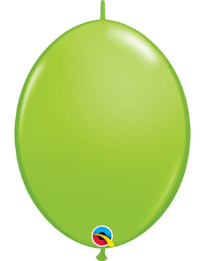 50 Link-O-Loon Balloons in Lime Green (15.2 cm) - Quick Link Solid Colour