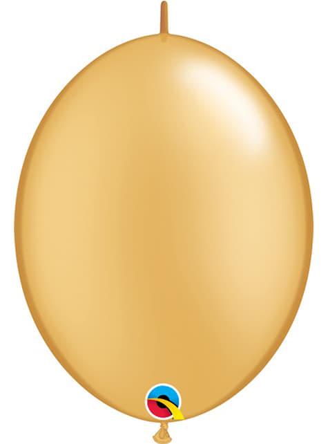 50 balões link o loon dourados (15,2cm) - Quick Link Solid Colour