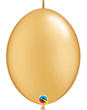 50 Link-O-Loon Balloons in Gold (15.2 cm) - Quick Link Solid Colour