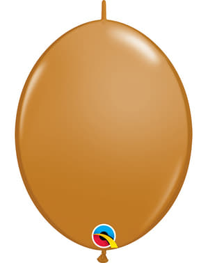 50 Link-O-Loon Balloons in Brown (30.4 cm) - Quick Link Solid Colour