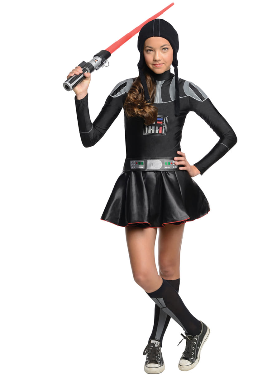 Teen girls Darth Vader Star Wars costume. Detalle Zoom  sc 1 st  Funidelia & Teen girls Darth Vader Star Wars costume. The coolest | Funidelia
