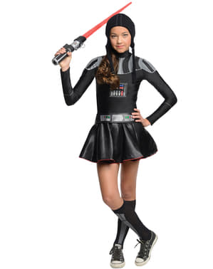 Teen girls Darth Vader Star Wars costume
