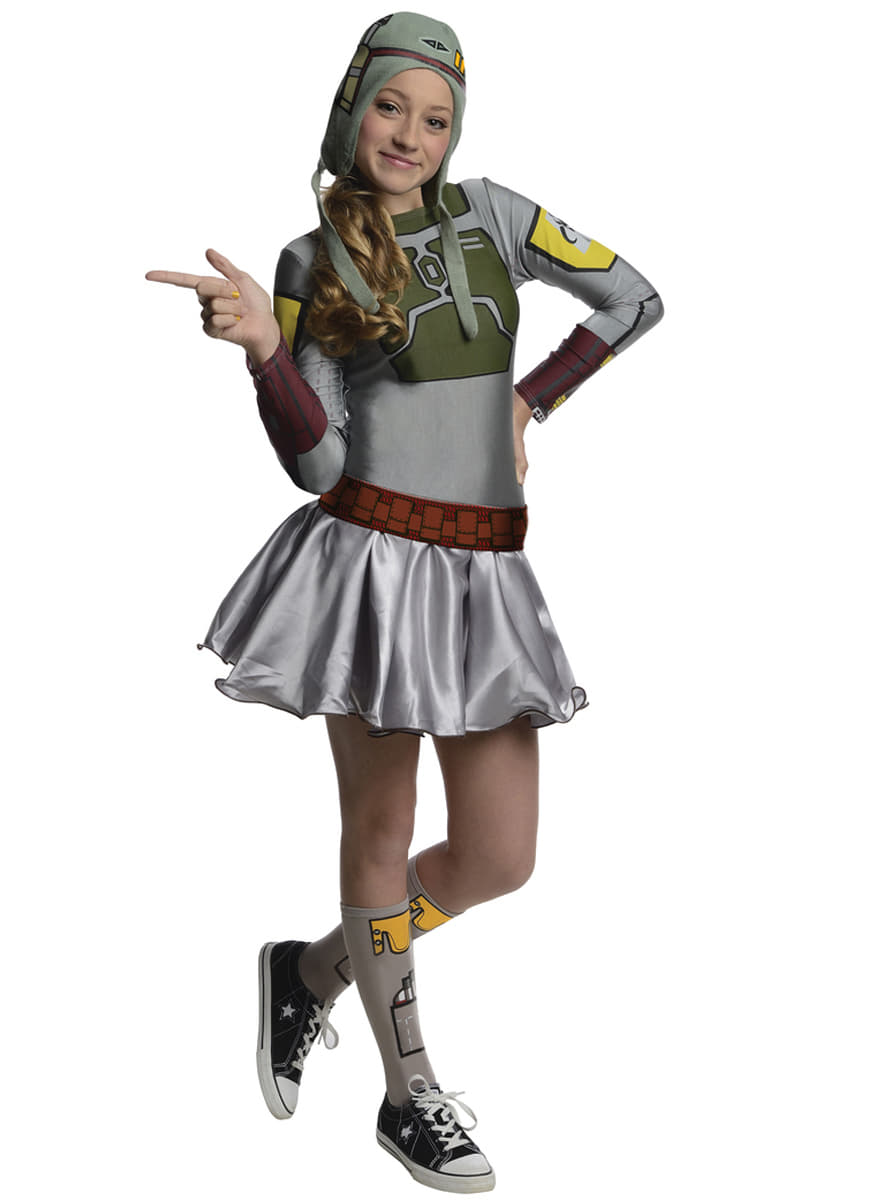 Teen girls Bobba Fett Star Wars costume. Fast delivery | Funidelia