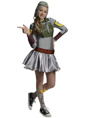 Teen girls Bobba Fett Star Wars costume