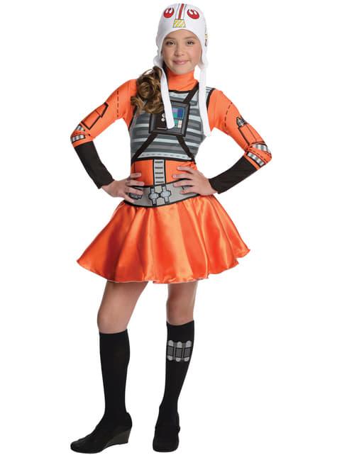 Teen girls X-Wing Star Wars costume