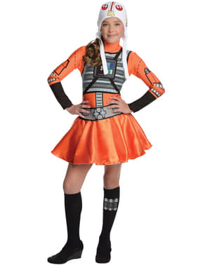 Teen girls X-Wing Star Wars costume