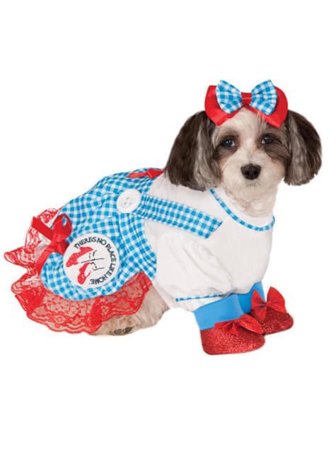 Fato de Dorothy do Feiticeiro de Oz para cão