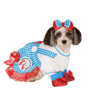 Maskeraddräkt Dorothy Trollkarlen från Oz för hund
