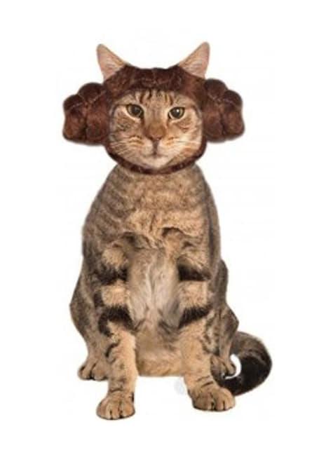 Orejas de la princesa Leia Star Wars para gato