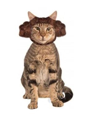 Orelhas da princesa Leia Star Wars para gato