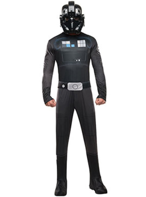 Disfraz de piloto de caza TIE Star Wars Rebels para hombre