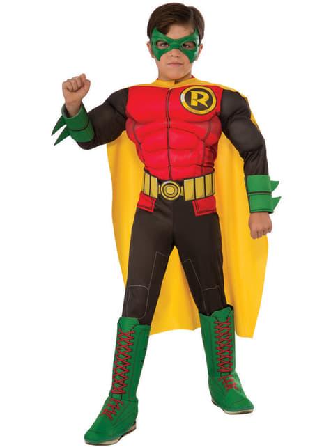 Fato de Robin de Batman deluxe para menino