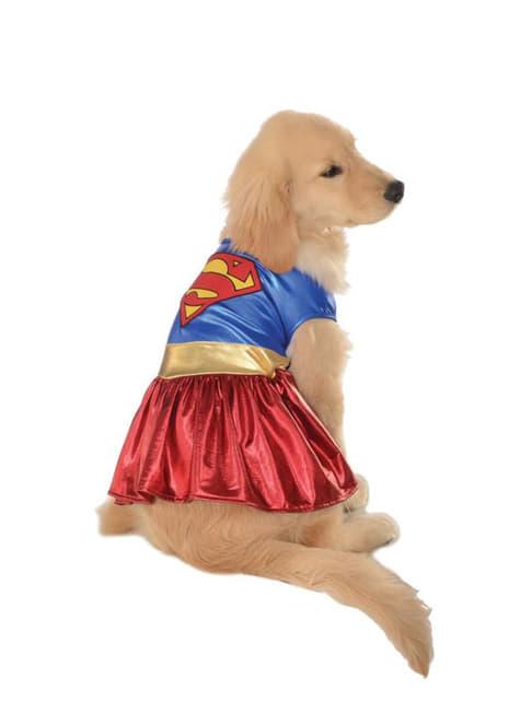Fato de Supergirl justiceira para cão