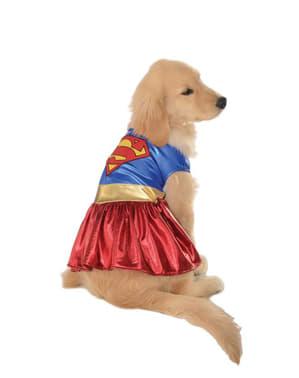 Costum Supergirl justițiară pentru cățel