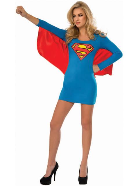 Supergirl kjole kostume til kvinder
