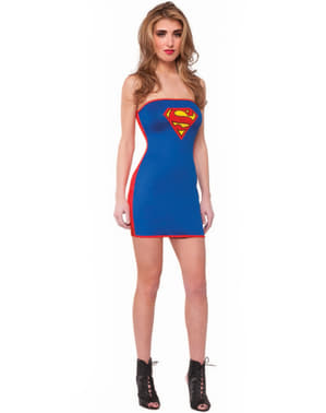 Vestido disfraz de Supergirl sexy para mujer