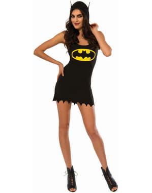 Batgirl kjole kostume med hætte til kvinder
